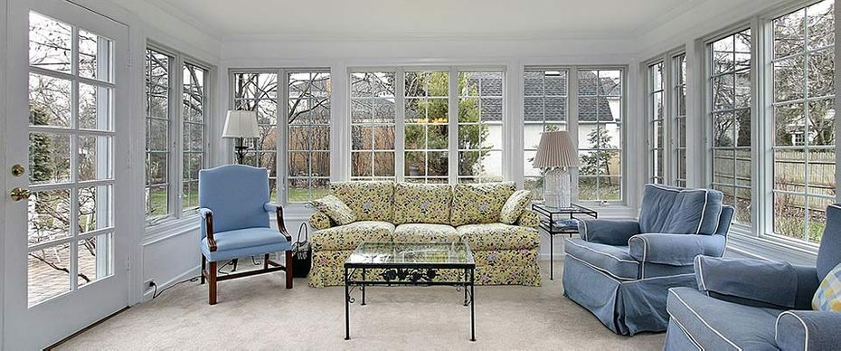 sunroom and furniture